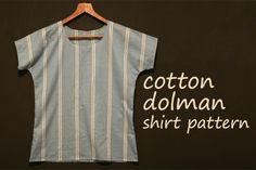 free dolman shirt pattern