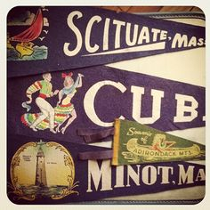 Flea Market Haul: Vintage Travel Pennants