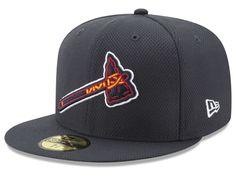 check out 7d3bc c858c Atlanta Braves New Era MLB Batting Practice Diamond Era 59FIFTY Cap