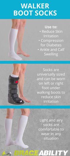 61ec966eba7c Sock Liner for Orthopedic Cam Walker Boots and Air Casts. Air Cast BootWalking  ...