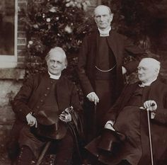 E.W. Benson, Archbishop of Canterbury, Lord Plunket, Archbishop of Dublin, and William Alexander, Archbishop of Armagh in 1897. [LPL MS 3977 f.17b.]