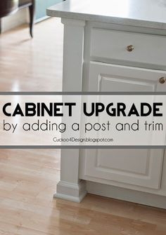 Adding a Kitchen Counter Post to builder standard cabinets - Cuckoo4Design