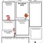 This Dr. Seuss Theme Newsletter is a great way to keep your parents informed of what is going on in your classroom each week, as well as, your week...