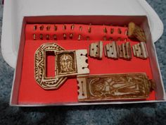 Faux ivory Medieval belt fitting set based of the MId 15c set residing in the Cluny