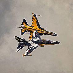 Republic of Korea Air Force (대한민국 공군) Black Eagles T-50B #military #aircraft…