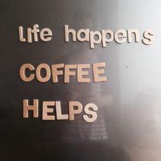 Coffee sure helps...