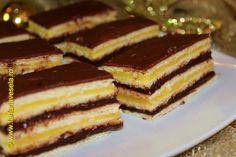 Farfuria vesela: Prajitura cu foi, crema de portocale si crema de ciocolata