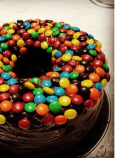 Chocolate and m and m cake