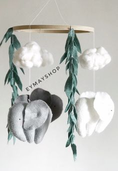 Excited to share the latest addition to my shop: Nature baby mobile , elephant baby mobile , elephant ornament , elephant nursery , mobile elephant Elephant Themed Nursery, Elephant Mobile, Baby Girl Elephant, Diy Bebe, Felt Baby, Fantastic Baby, Nursery Themes, Nursery Ideas, Nursery Mobiles