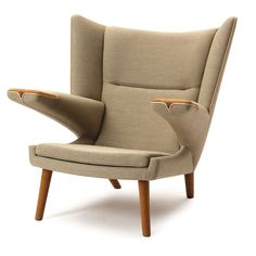 Bear Chair By Hans J.  Wegner | From a unique collection of antique and modern wingback chairs at https://www.1stdibs.com/furniture/seating/wingback-chairs/