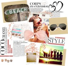 """Beach Girl"" by beautydesk on Polyvore"
