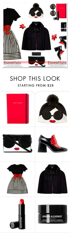 """🎀 #553 Autumn"" by wonderful-paradisaical ❤ liked on Polyvore featuring Marc Jacobs, Alice + Olivia, Marni, Bill Blass, Ted Baker, Beauty Is Life, Grown Alchemist, ZeroUV, trending and autumn"