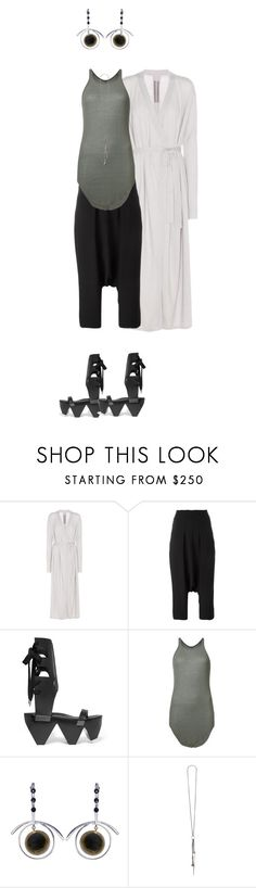 """my sister says the saddest things"" by opeaits ❤ liked on Polyvore featuring Rick Owens, Marni and Ann Demeulemeester"