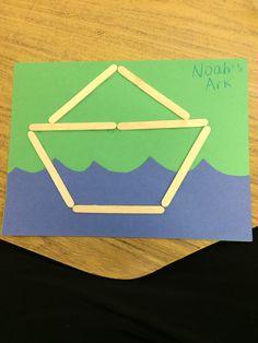 Easy Noah's Ark craft for preschoolers