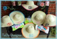 Monogrammed Sun Hats in all Different Colors by TaDaDesignsInc Monogram Hats, Monogram Initials, Lil Momma, Summer Outfits Women, Sun Hats, Teacher Gifts, Spring Summer Fashion, Different Colors, Cowboy Hats