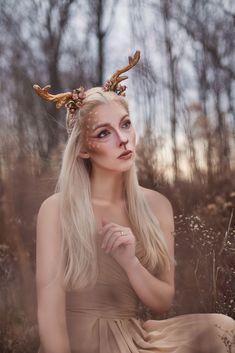 Faun Makeup, Deer Makeup, Animal Makeup, Costume Makeup, Makeup Art, Faun Costume, Deer Costume, Maquillaje Halloween, Halloween Makeup