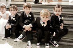 Tuxes & Converse <3 perfect for the boys!