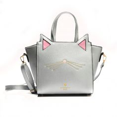 06ec428a863e Zebella 2017 New Arrival Large Capacity Black Silver Cute Cats Women Hand  Bag PU Leather Cat Ear Shoulder Bag Messenger Bags