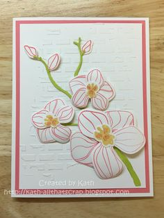 Created by Kath: Climbing Orchids