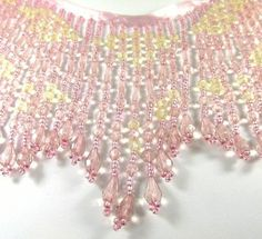 "24.00 4-5.5"" Vintage Pink and Light Gold 5.5 Inch Long Beaded Fringe – Odyssey Cache"