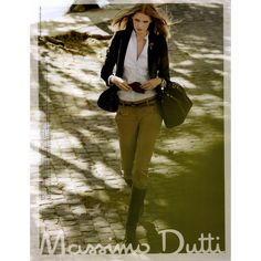 Massimo Dutti Ad Campaign Fall/Winter 2008 - MyFDB ❤ liked on Polyvore featuring ad campaign, editorials and julia stegner
