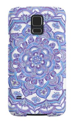 """Lilac Spring Doodle Flower"" Samsung Galaxy Cases & Skins by micklyn 