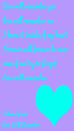 Selena gomez love will remember lyrics from cocoPPa