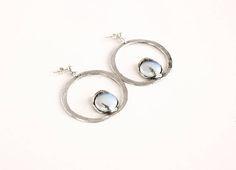 Sterling silver earrings statement earrings october birthstone