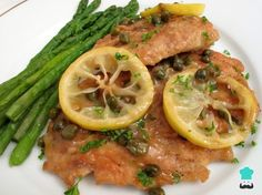 One-Pan Chicken Piccata with Asparagus Recipe #piccata #lemon #chicken #capers #butter #Italian