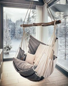 Hammock chair for home and garden, for interior and relax.- Hammock chair for home and garden, for interior and relax. by HammockChairStudio… Hammock chair for home and garden, for interior and relax. by HammockChairStudio on Etsy - Interior Decorating, Interior Design, Home Interior, Decorating Ideas, Interior Ideas, Interior Balcony, Swinging Chair, Rocking Chair, Dream Rooms