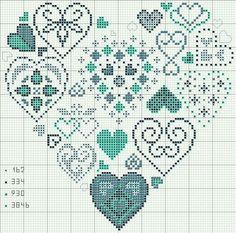 free Cross-stitch Heart of Hearts chart Cross Stitch Heart, Cross Stitch Samplers, Cross Stitching, Cross Stitch Embroidery, Embroidery Patterns, Cross Stitch Designs, Cross Stitch Patterns, Heart Patterns, Cross Stitch Freebies