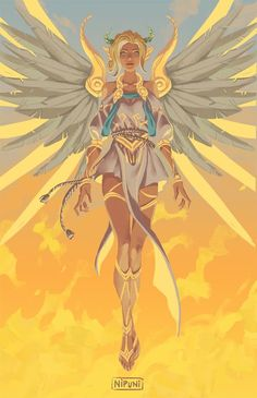 Overwatch Winged Victory Mercy - More at https://pinterest.com/supergirlsart