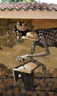 Warped Street Art Portraiture by Stamatis Laskos street art portraits