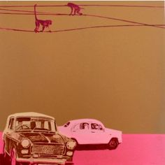 Taxis pink art print - Available online at everythingbegins.com