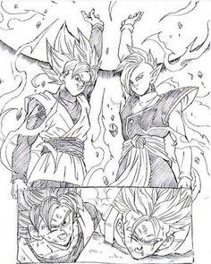 Goku Black and Zamasu vs Goku and Trunks