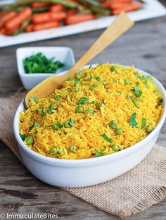 Two variety of Yellow Rice- Quick, easy, cheap, fragrant, flavorful, and vegan rice. It's a taste bud sensation.