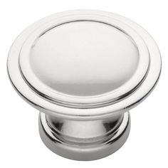 Liberty 1-1/8 in. Polished Chrome Ridge Cabinet Knob