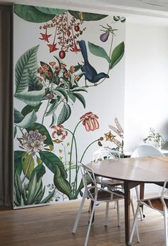 Botanical wallpaper the pattern collective Mural Art, Wall Murals, Kids Room Murals, Kids Rooms, Room Kids, Room Interior, Interior Design, Botanical Wallpaper, Botanical Wall Art