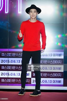 Su ho (Suho) of South Korean boy band EXO-K attends the Seoul premiere of SM Entertainment - 'SMtown The Stage' on August 4, 2015 in Seoul, South Korea. The film will open on August 13, in South Korea.