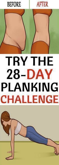 Try the 28-Day Planking Challenge and Melt Belly Fat and More! #plank #fitness #challenge #health #abs #bellyfat #fat #reduce