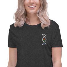 Pride DNA Crop Tee - Dark Grey Heather / 2XL
