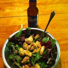 healthy dinner healthy beer.