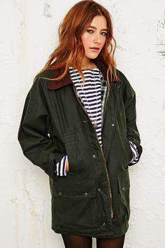 Vintage Renewal Wax Jacket in Green http://uoeur.pe/uorenewal #UrbanOutfittersEurope #Vintage
