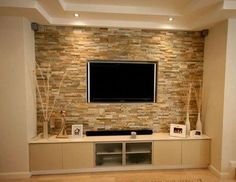 Tv Wall Decor, Wall Decor Design, Tv Shelf Design, Elegant Living Room, Living Room Modern, Living Room Decor, Room Wall Tiles, Modern Tv Wall Units, Living Room Tv Unit Designs