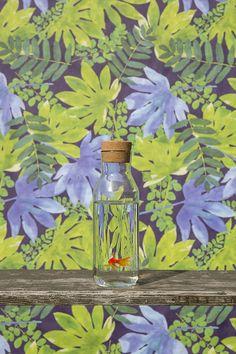 Anne Stevens #floraldesign #print #pattern #green #plants #3d #lichting2015 #dutchdesign #youngtalent #stylink #goldfish