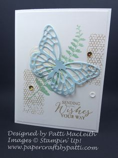 Butterfly Basics stamp set is a great set that can give you many different looks on your cards or scrap book pages. I also like it beca...
