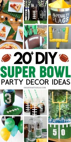 Tailgate Decorations, Diy Party Decorations, Super Bowl Rings, Healthy Superbowl Snacks, Holiday Crafts For Kids, Holiday Ideas, Clever Diy, Easy Diy, Beverage Stations