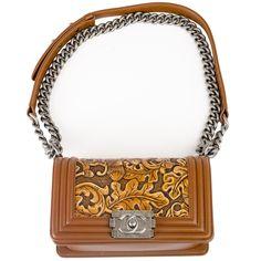 Chanel 2014 Chanel Brown Cordoba Small Dallas Boy Bag ...