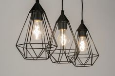 Hanglamp 10223: modern, retro, metaal, zwart