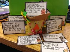 Thanksgiving writing prompts.  Run! Miss Nelson's Got the Camera: Gift IDEAS cheap and easy!